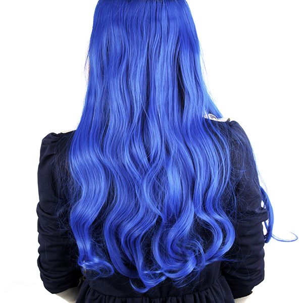Women Girls Hair Extensions Full Head Clip In Synthetic Long Curly