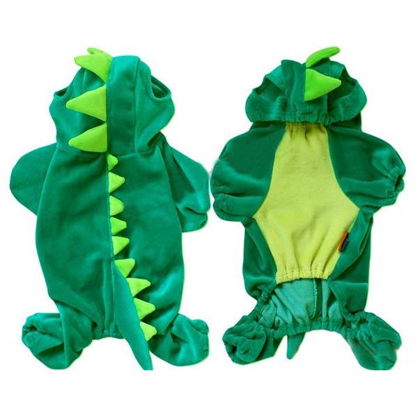 Cute-Pet-Dog-Dinosaur-Costume-Coat-Puppy-Dragon-Dinosaur-Apparel-Outfit-Clothes thumbnail 3