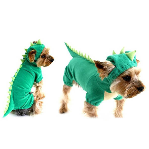 Cute-Pet-Dog-Dinosaur-Costume-Coat-Puppy-Dragon-Dinosaur-Apparel-Outfit-Clothes thumbnail 2