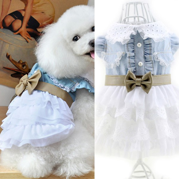 Pet-Dog-Cat-Princess-Bow-Tutu-Dress-Lace-Skirt-Puppy-Dog-Skirt-Apparel-Clothes thumbnail 24
