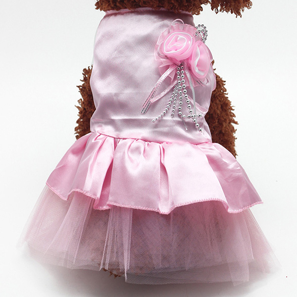 Pet-Dog-Cat-Princess-Bow-Tutu-Dress-Lace-Skirt-Puppy-Dog-Skirt-Apparel-Clothes thumbnail 20