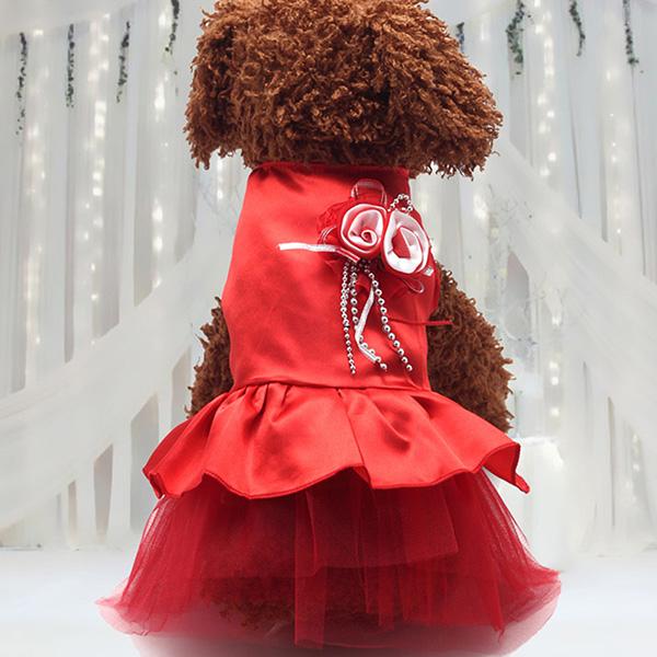 Pet-Dog-Cat-Princess-Bow-Tutu-Dress-Lace-Skirt-Puppy-Dog-Skirt-Apparel-Clothes thumbnail 21