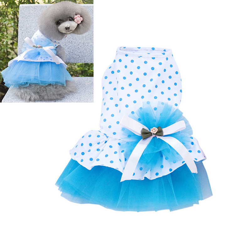 Small-Pet-Dog-Cats-Bow-Tutu-Dress-Lace-Skirt-Puppy-Dress-Summer-Princess-Clothes thumbnail 12
