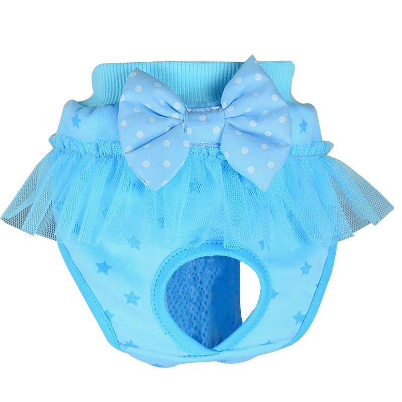 Animaux-Chiens-Bowknot-Physiological-Pant-Underwear-Puppy-Sanitary-Briefs-Pants