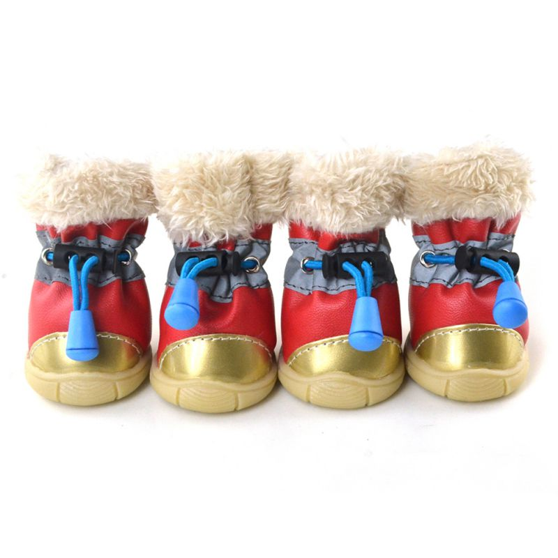 Winter Dog Boots Waterproof Anti-Slip Pet Puppy Cats Shoes