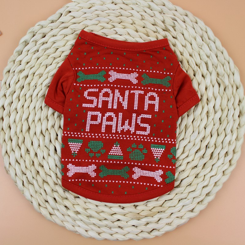 Christmas-Pet-Clothes-Dog-Santa-Sweater-Shirt-Puppy-Cat-Pullover-Hoodies-Costume