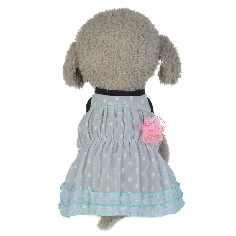 Summer-Small-Pet-Dog-Flower-Tutu-Dress-Puppy-Cat-Vest-Bow-Skirt-Apparel-Clothes thumbnail 23