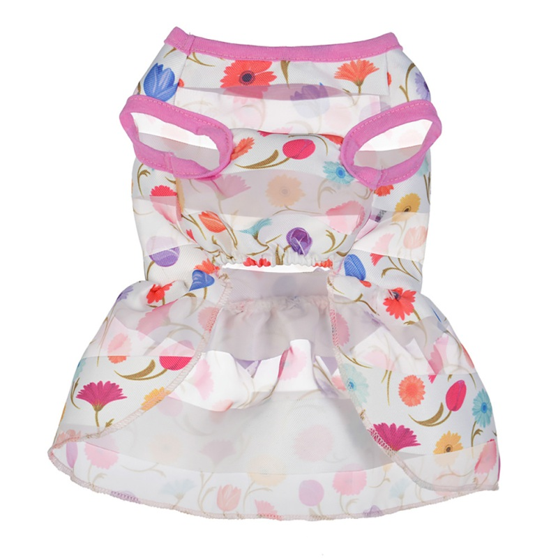 Summer-Small-Pet-Dog-Flower-Tutu-Dress-Puppy-Cat-Vest-Bow-Skirt-Apparel-Clothes thumbnail 35