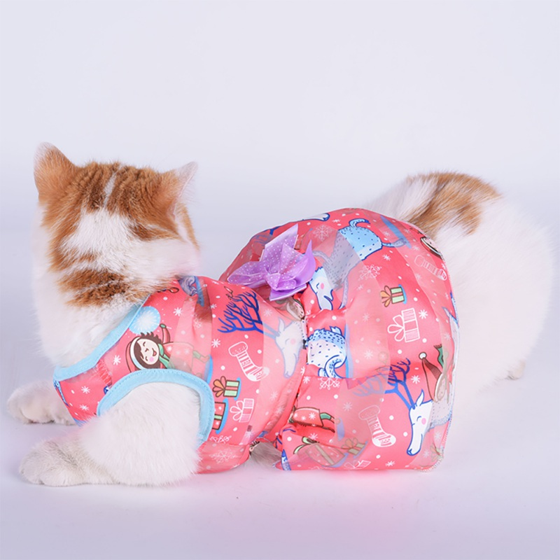 Summer-Small-Pet-Dog-Flower-Tutu-Dress-Puppy-Cat-Vest-Bow-Skirt-Apparel-Clothes thumbnail 25