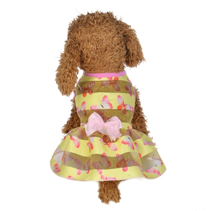Summer-Small-Pet-Dog-Flower-Tutu-Dress-Puppy-Cat-Vest-Bow-Skirt-Apparel-Clothes thumbnail 30