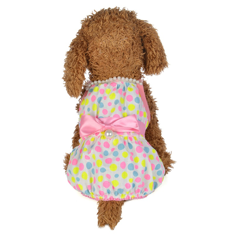 Summer-Small-Pet-Dog-Flower-Tutu-Dress-Puppy-Cat-Vest-Bow-Skirt-Apparel-Clothes thumbnail 39