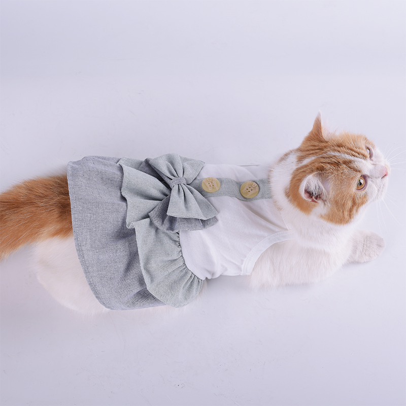 Summer-Small-Pet-Dog-Flower-Tutu-Dress-Puppy-Cat-Vest-Bow-Skirt-Apparel-Clothes thumbnail 51