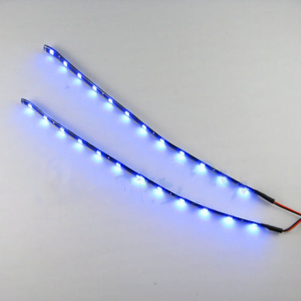 waterproof hot 2pc 12 leds 30cm 5050 smd led strip light flexible 12v car decor ebay. Black Bedroom Furniture Sets. Home Design Ideas