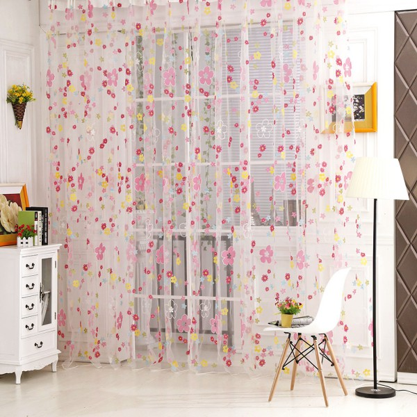 Chic Volie Tulle Window Curtains Valances Door Room