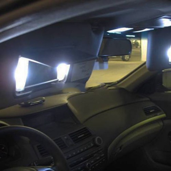 Vanity Mirror Lights In Car : 2 PCS Xenon 3-SMD 6641 Fuse LED Car Vehicle Visor Vanity Mirror Bright Lights eBay