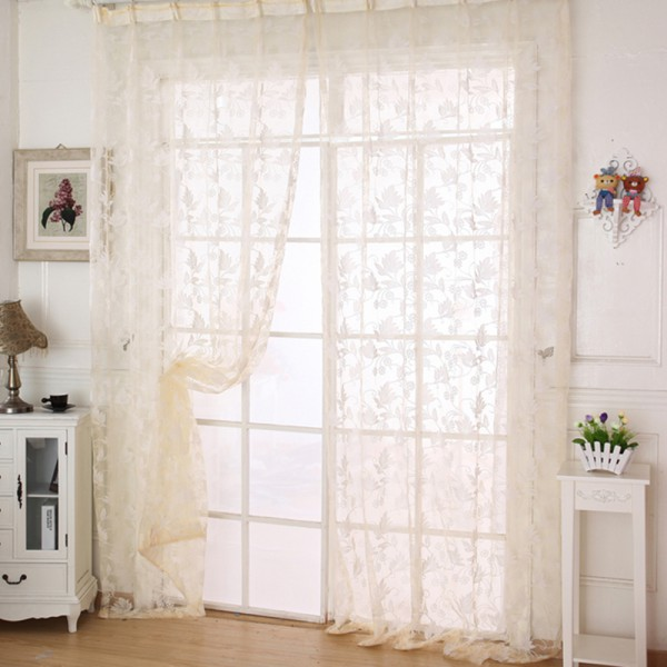 Chic Sheer Voile Room Divider Window Curtain Door Panel Drapes Scarf Multi Style Ebay