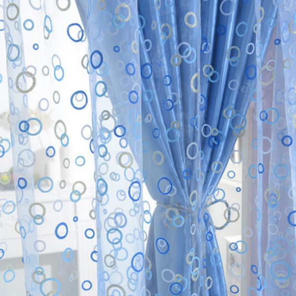 New Circle Pattern Room Voile Window Curtains Sheer Panel Drapes Beauteous Pattern Curtains