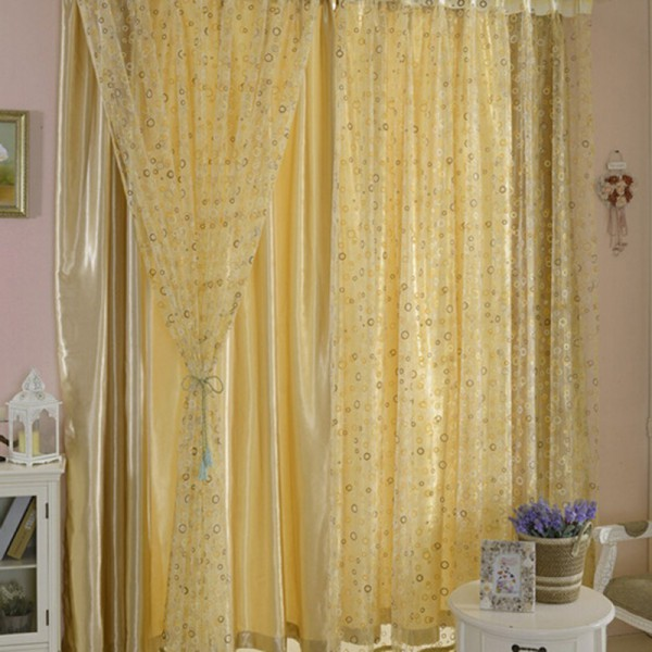 Pattern Window Curtains New Circle Pattern Room Voile Window Curtains Sheer Panel Drapes