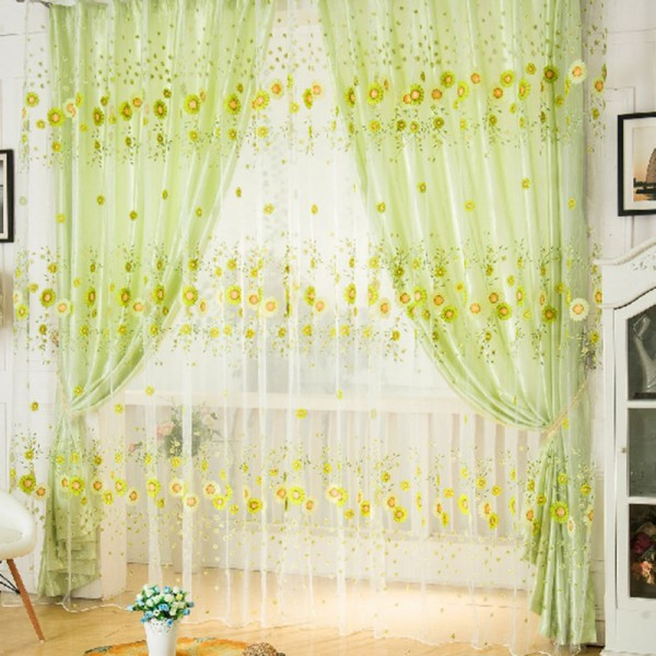 curtains and sheer curtain drapes flower with good patterns are choices delicate p