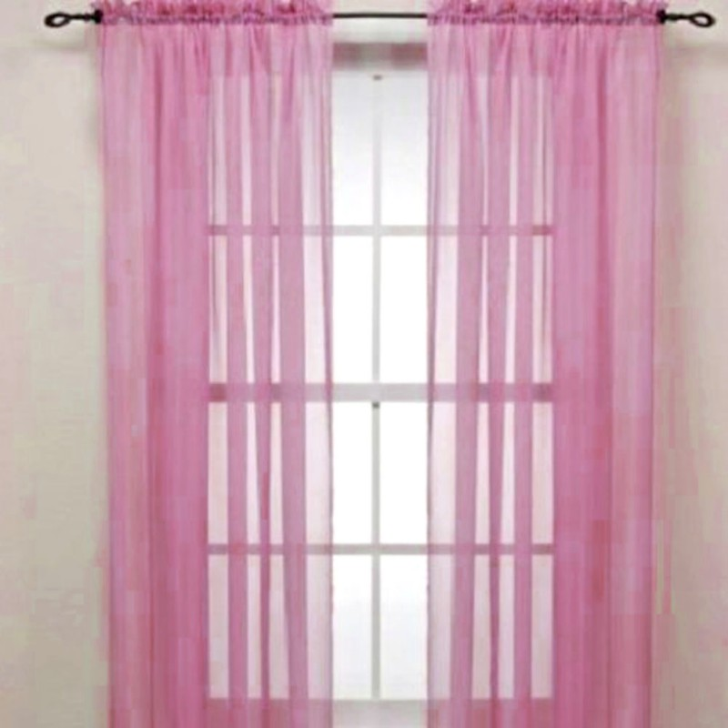 1 Piece Home Sheer Voile Door Window Curtain