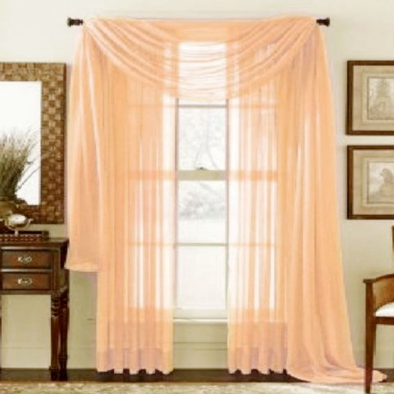 Home Valances Sheer Voile Door Window Chiffon Curtain Drape Panel