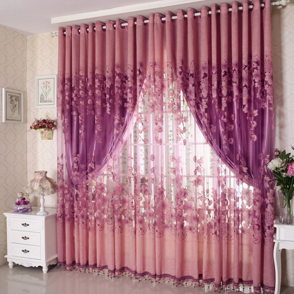 One Piece Fashion Sheer Voile Curtain Panel Scarf