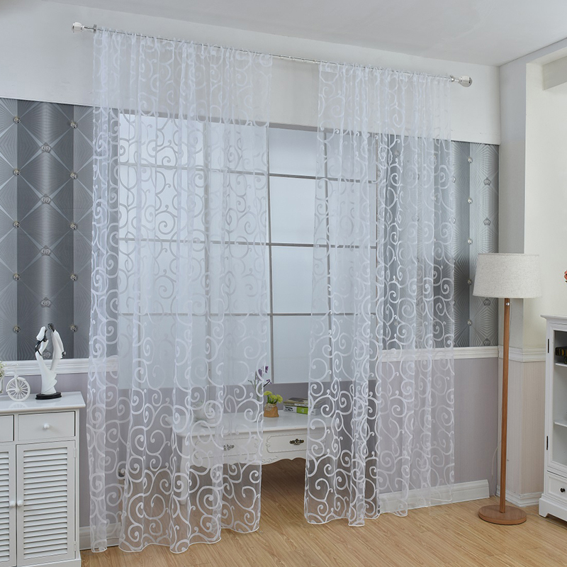 Hot Window Panel Curtain Room Divider New Floral Sheer