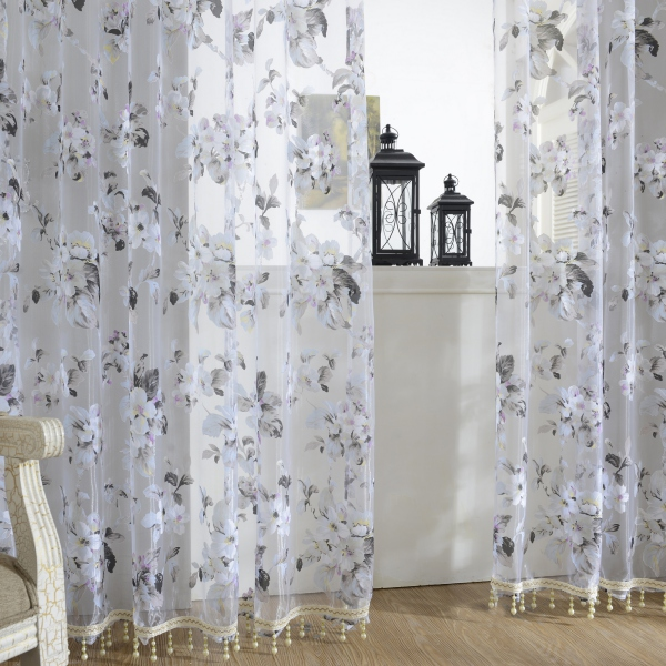 Room Divider Sheer Curtain Panel Window Balcony Tulle