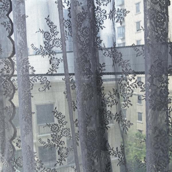 UK-Floral-Net-Voile-Window-Curtain-Lace-Panel-Drape-Tulle-Valances-Balcony-Decor