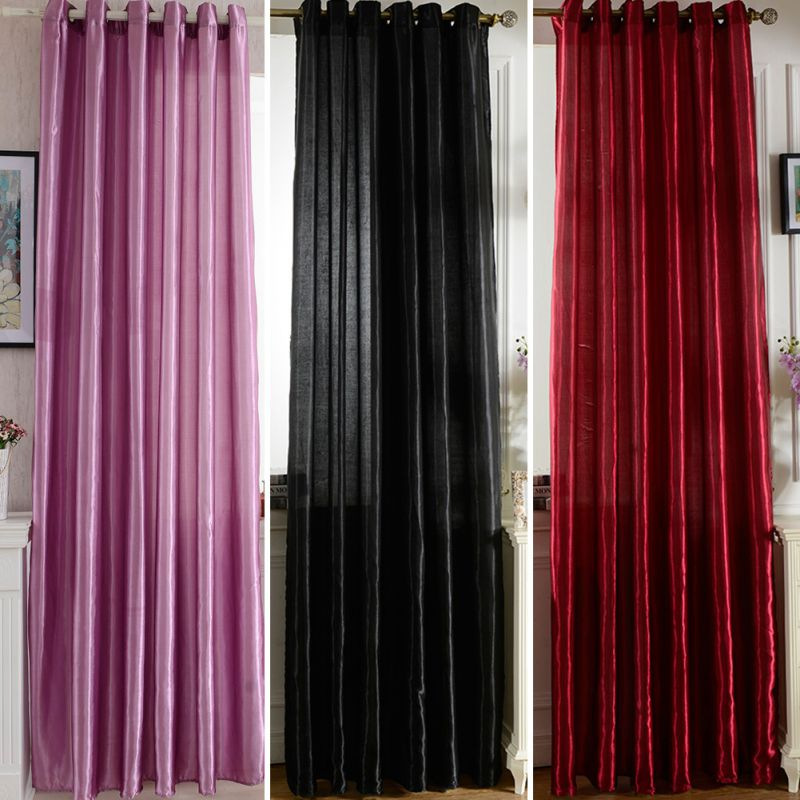 solid sheer voile tulle window curtain room decor lining curtain panel drape. Black Bedroom Furniture Sets. Home Design Ideas