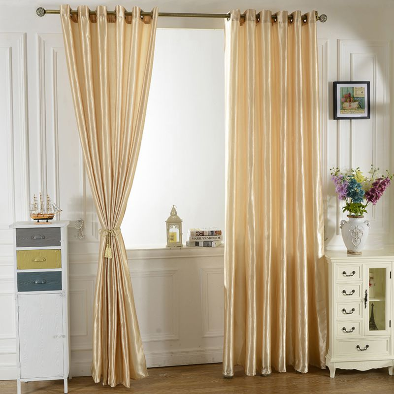 Curtain For Balcony: Solid Lined Panel Thermal Blackout Balcony Window Room