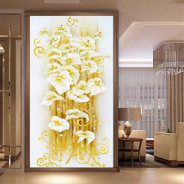5d Diy Lily Flower Embroidery Diamond Painting 3d Cross