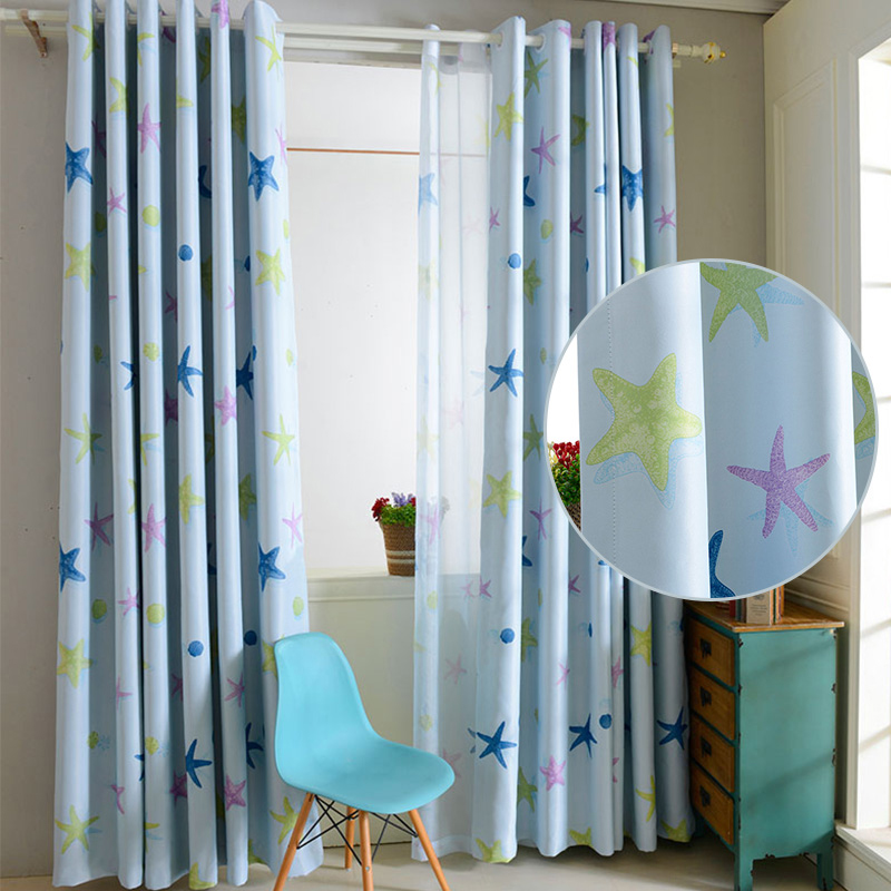 Boy girl kids bedroom blackout curtains ring top patterned - Childrens bedroom blackout curtains ...