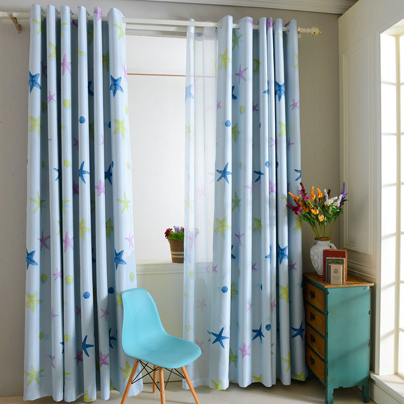 One PC Printed Window Drape Curtain Bedroom Thick Blackout Valance ...