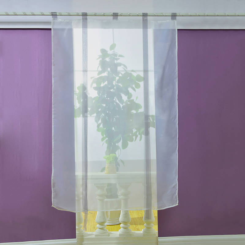 New sheer kitchen bathroom balcony window curtain voile for Window voiles