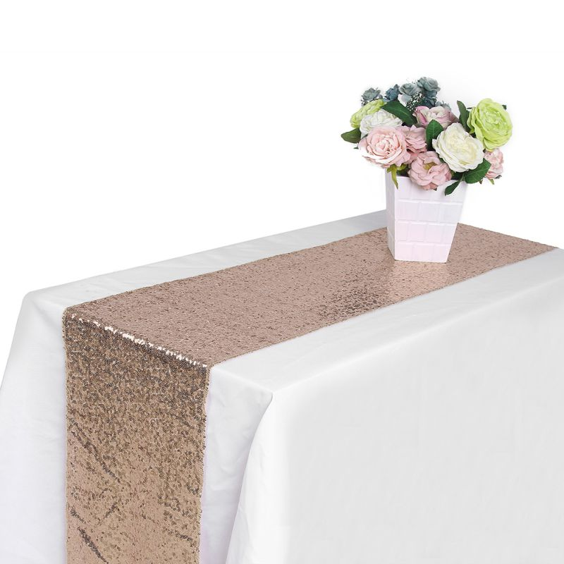 Sequin table runners sparkle glitter wedding party for Table runner
