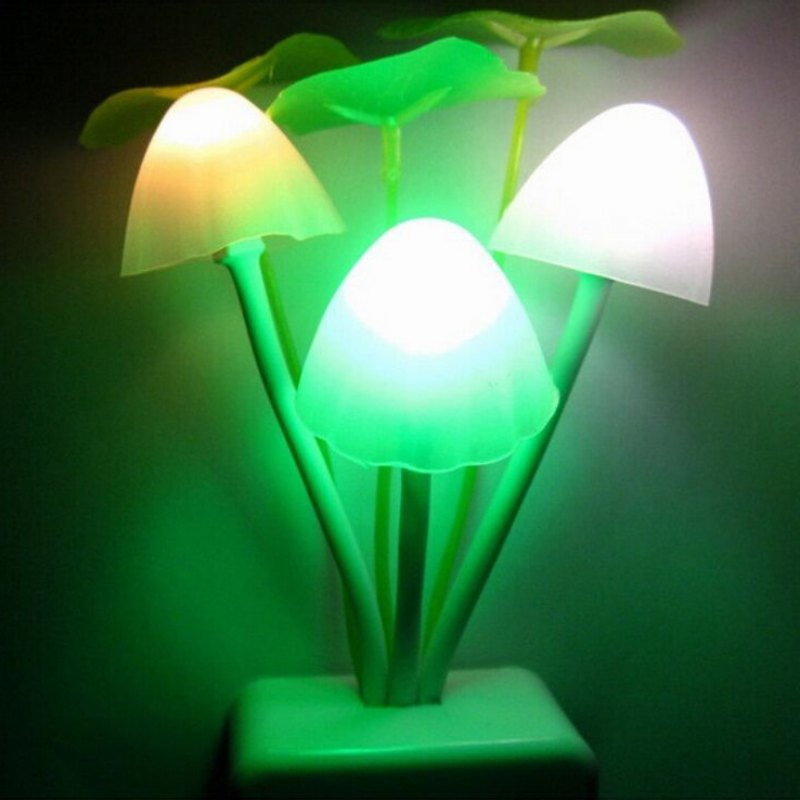 Sensor Night Light Mushroom Led Lamp Us Plug Romantic