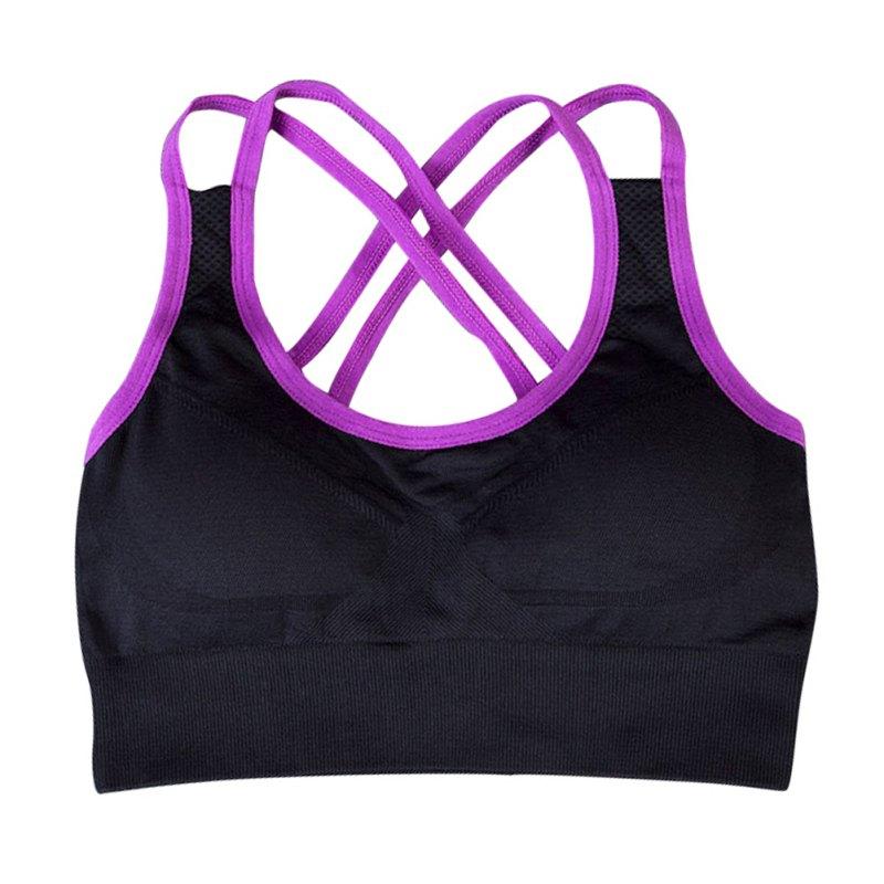 Womens Yoga Workouts Strappy Back Sport Tank: Women Racerback Padded Sport Bra Yoga Fitness Stretch