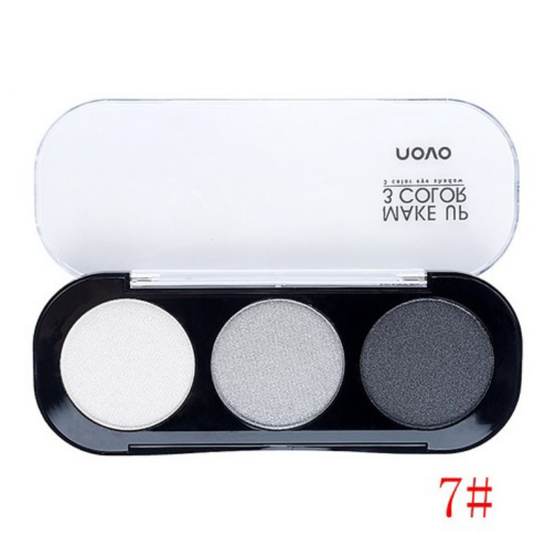 3 Colors Pro Eyeshadow Diamond Eye Shadow Palette + Brush Makeup Cosmetic Kits