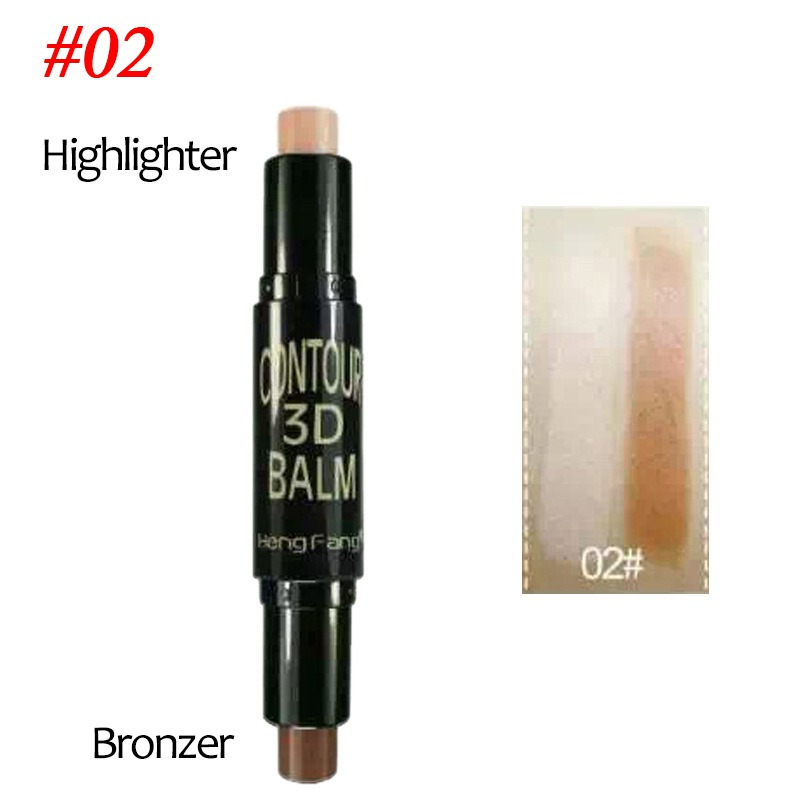 Double-ended Highlighter Bronzer Stick Cream Powder ...