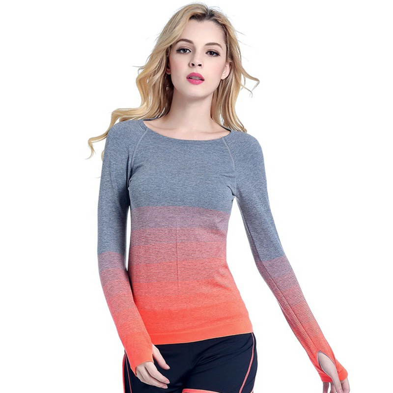 Womens Gym Sports Shirt Yoga Tops Fitness Running Quick