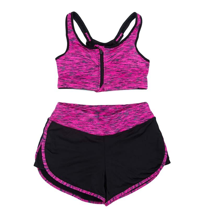 Womens Sports Bras Running Yoga Pants Dance Gym Tank Tops: Women 2Pcs Sports Bra Set Tank Tops Shorts Pants Suit Gym