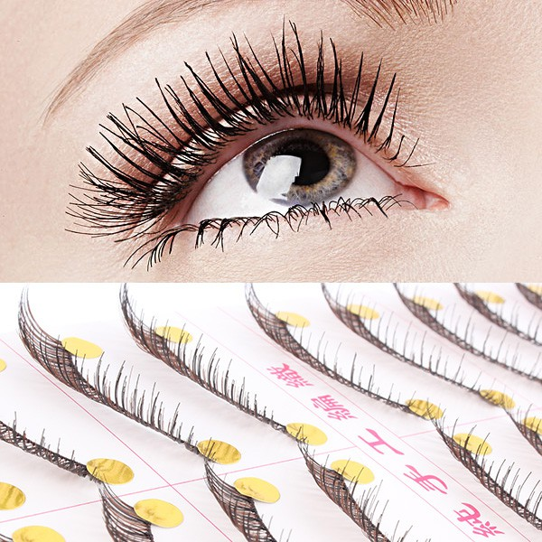 how to put false eyelashes on lower lashes