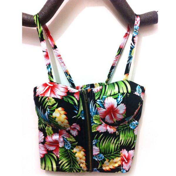Verano-Mujer-Casual-Tank-Tops-Bra-Vest-Blusa-Sin-mangas-Crop-Top-Camisa-Strappy