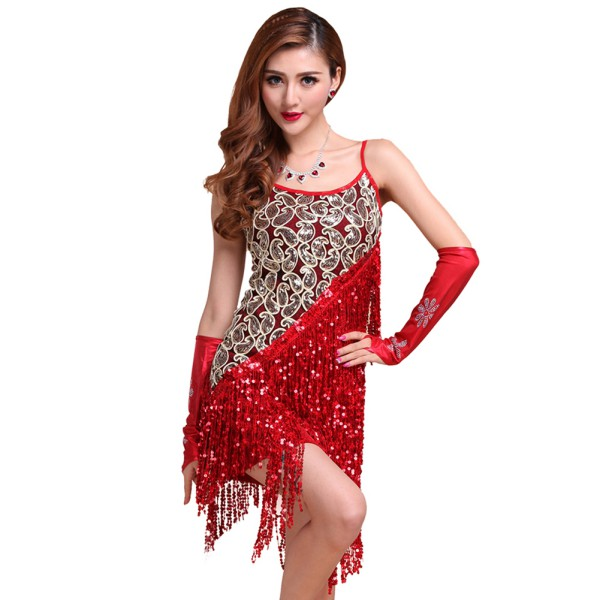 9758d6322 Ballroom Costumes & Women-Latin-Tango-Ballroom-Salsa-Dance-Dress ...