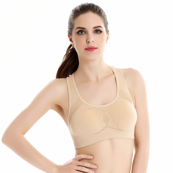 Women Yoga Bra Top Fitness Racerback Padded Sports Bra Running ...