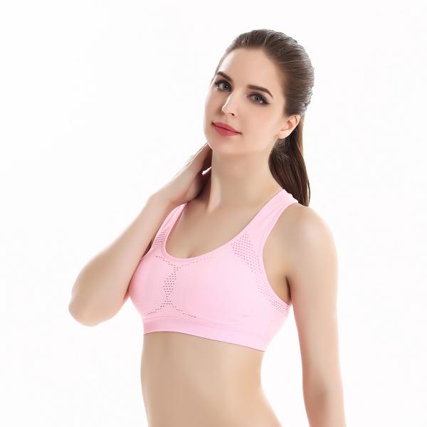 Women Yoga Bra Top Fitness Seamless Racerback Padded ...