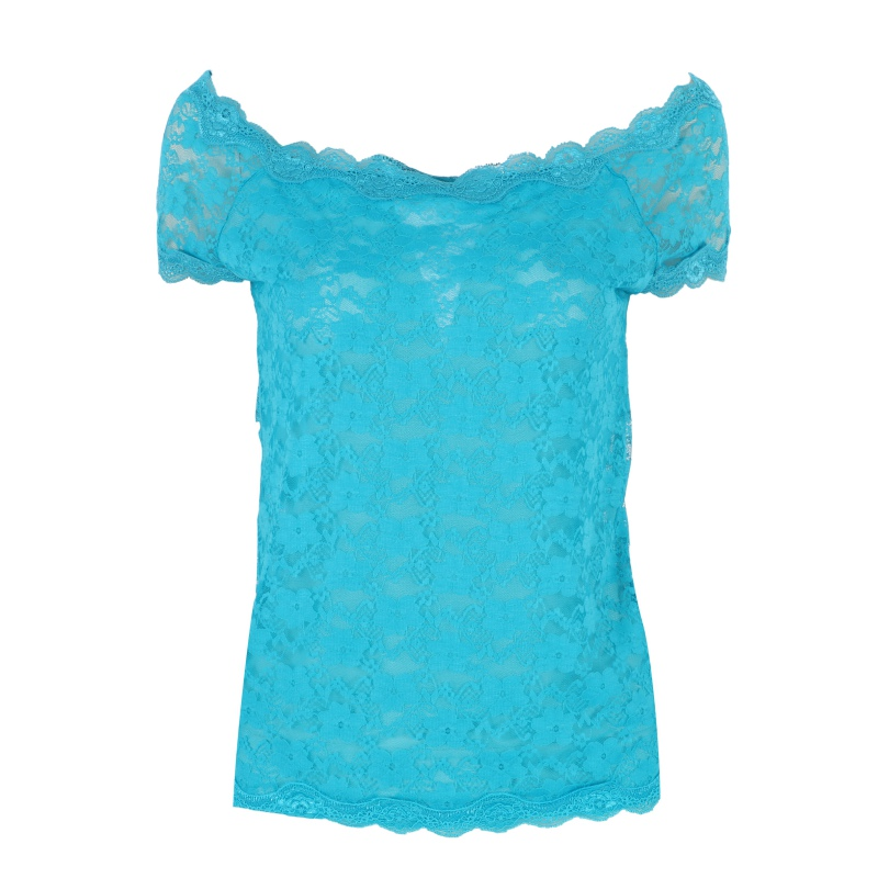 Trendy women ladies summer short sleeve lace floral t for Trendy t shirts for ladies