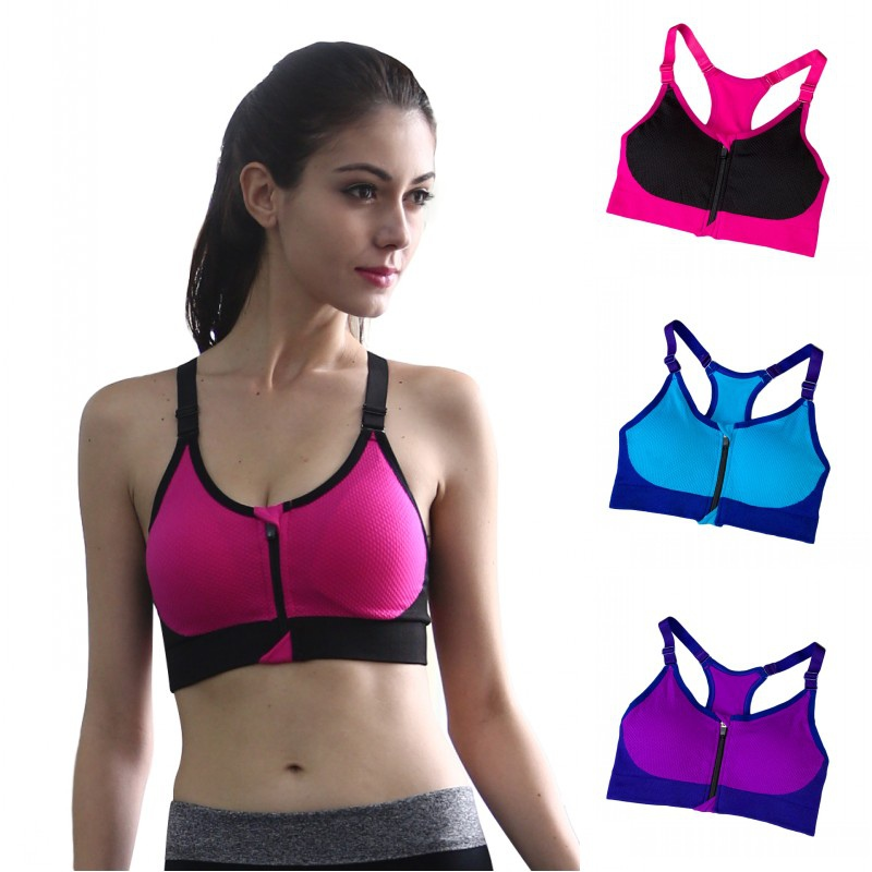 1d8fbf2b9 Image is loading Women-Seamless-Sports-Bra-Yoga-Padded-Stretch-Workout-