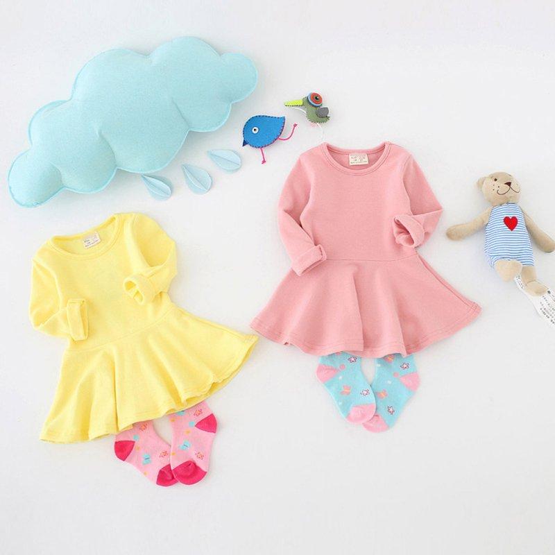 New Fashion Baby Girls Dress Winter Kids Children Clothes